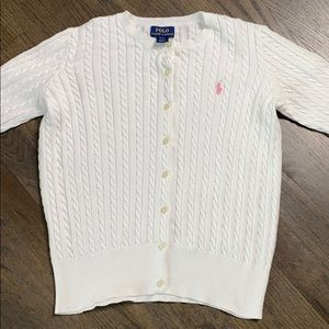 Polo Ralph Lauren Cotton Cable Cardigan Sweater